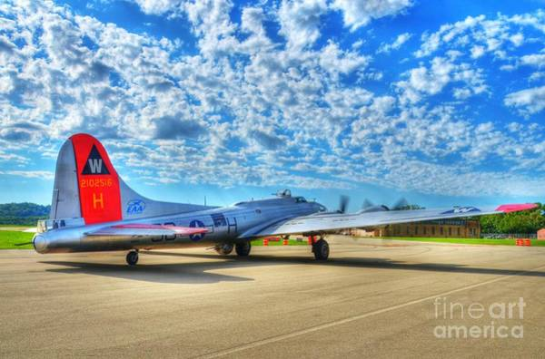 B-17 Bomber Photograph - The Wild Blue Yonder by Mel Steinhauer