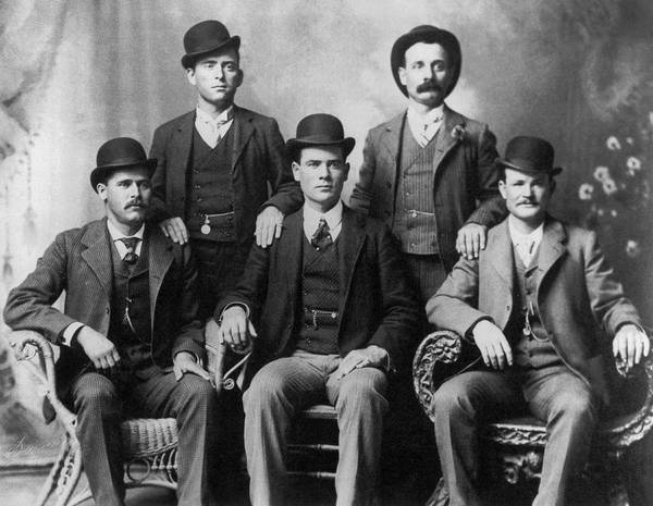 1900 Photograph - The Wild Bunch Gang by Underwood Archives