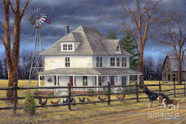 Folk Painting - The Wind Takes You Back by Chuck Pinson