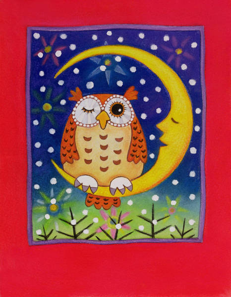 Snow Owl Painting - The Winking Owl by Cathy Baxter