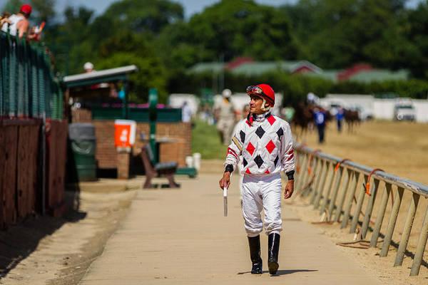 Jocky Photograph - The Winning Jockey by Earl Ball