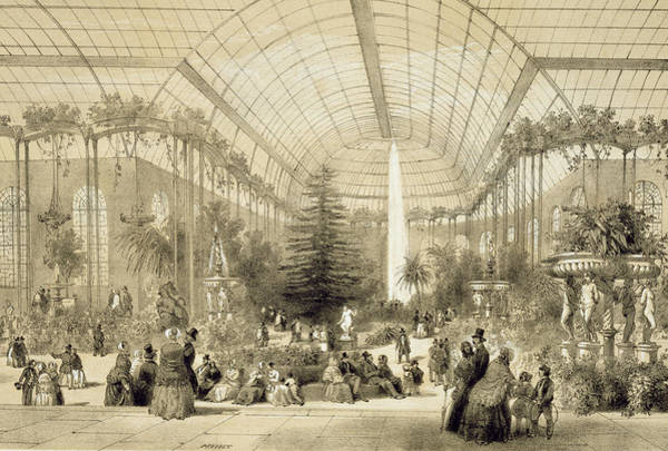 Jardin Painting - The Winter Garden by A Provost