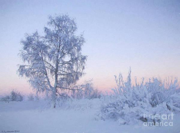 Atmospheric Painting - The Winter Light by Veikko Suikkanen