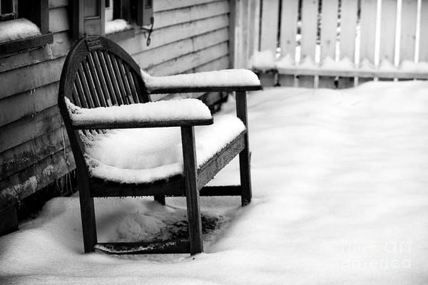 Photograph - The Winter's Bench by John Rizzuto