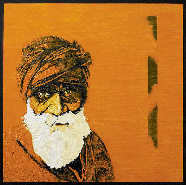 Mumbai Painting - the wise    SOLD by Sanjay Thapar