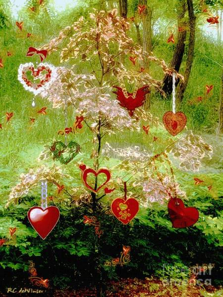 Painting - The Wishing Tree by RC DeWinter