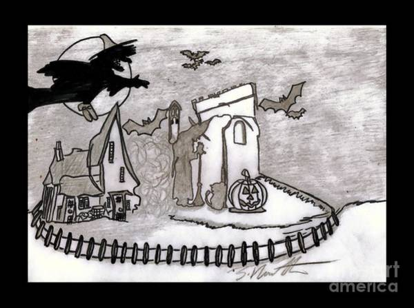 Trick Or Treat Drawing - The Witches Halloween by Sylvia Howarth