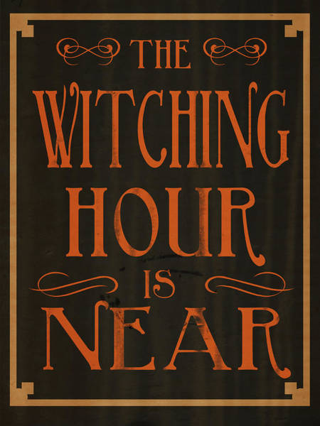 Witch Digital Art - The Witching Hour by Sd Graphics Studio