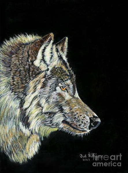 Painting - The Wolf by Bob Williams