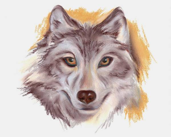 Pastel - The Wolf by MM Anderson