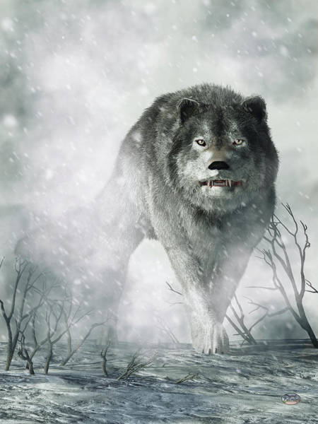 Digital Art - The Wolf Of Winter by Daniel Eskridge