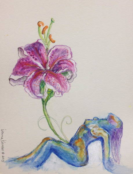 Emanate Painting - The Woman Flowers by Donna Kerness