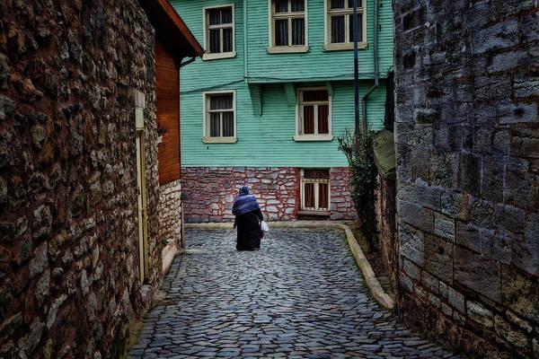 Narrow Photograph - The Woman Near Chora Church by Joan Carroll