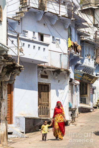 Photograph - The Woman Of Udaipur In Rajasthan by Didier Marti
