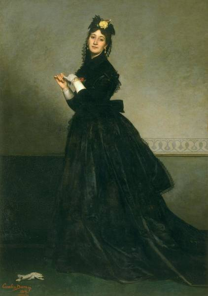Wall Art - Photograph - The Woman With The Glove, 1869 Oil On Canvas by Charles Emile Auguste Carolus-Duran
