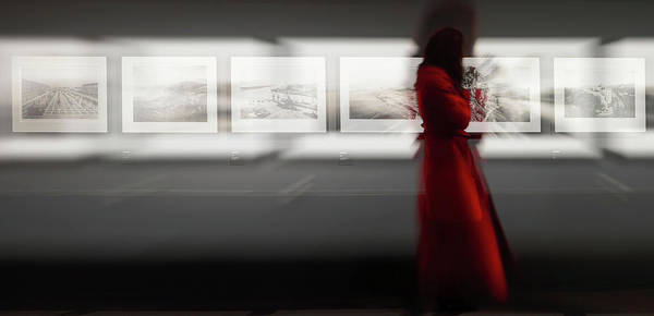 Museum Wall Art - Photograph - The Woman With The Red Coat by Bartagnan