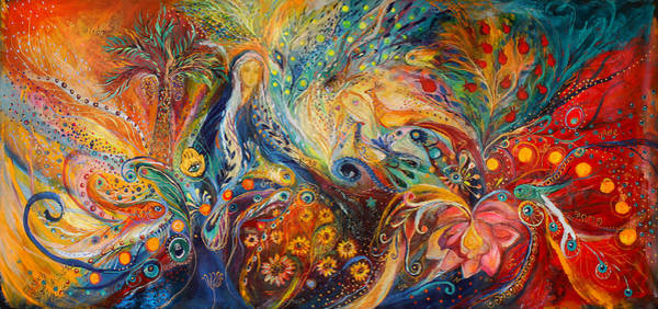 Chupah Wall Art - Painting - The Women Of Tanakh - Sarah by Elena Kotliarker