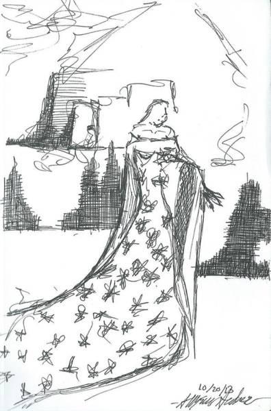The Wondering Maiden Art Print