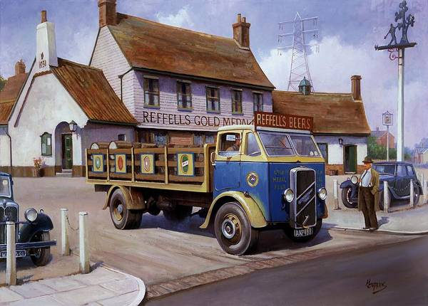 Wall Art - Painting - The Woodman Pub. by Mike Jeffries