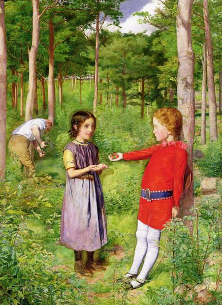 Millais Painting - The Woodmans Daughter by Sir John Everett Millais