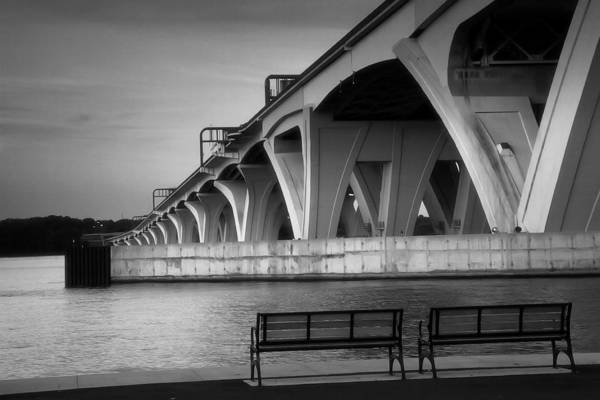 Potomac River Photograph - The Woodrow Wilson Bridge by Steven Ainsworth