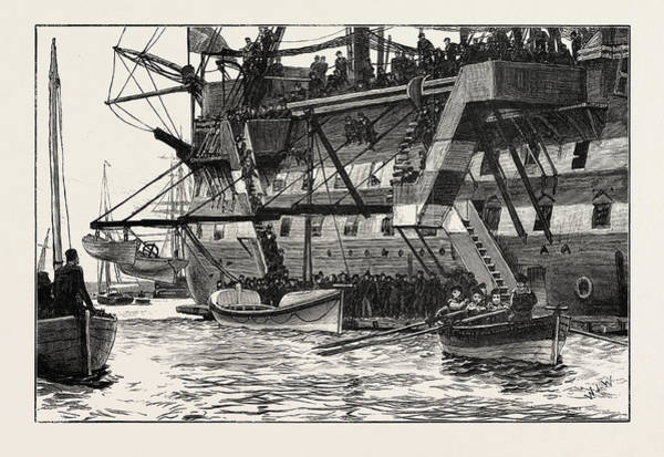 Wall Art - Drawing - The Worcester Cadets Presenting A New Lifeboat by English School