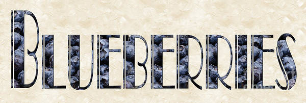 Photograph - The Word Is Blueberries by Andee Design