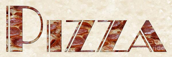 Photograph - The Word Is Pizza by Andee Design
