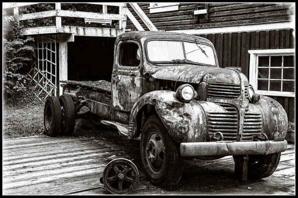 Photograph - Old Dodge Left In The Cove by Roxy Hurtubise
