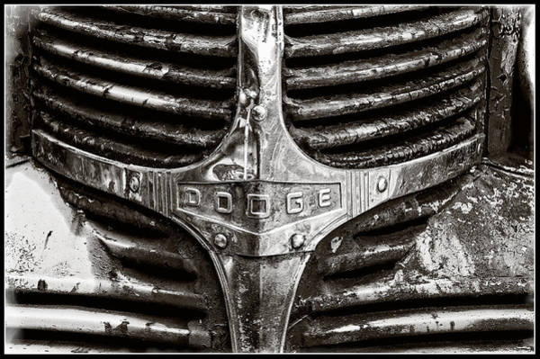 Photograph - Vintage Dodge Truck Front End by Roxy Hurtubise