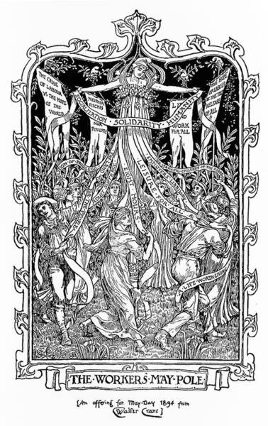 Idealism Wall Art - Drawing - The Workers' May-pole, A Design by Mary Evans Picture Library