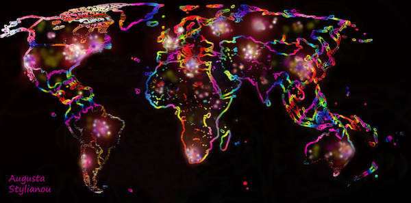 Digital Art - The World At Night  by Augusta Stylianou