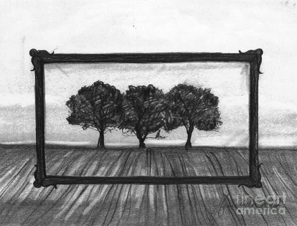 Tree Wall Art - Drawing - The World In A Frame by J Ferwerda