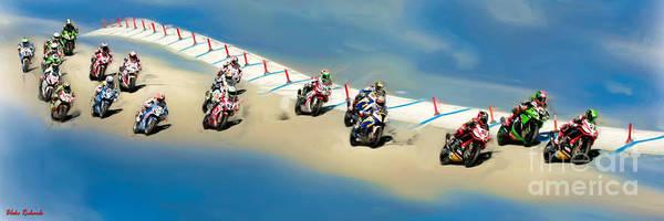 Photograph - The World Super Bike Grid by Blake Richards