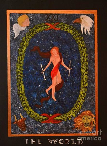 Painting - The World Tarot by Denise Tomasura