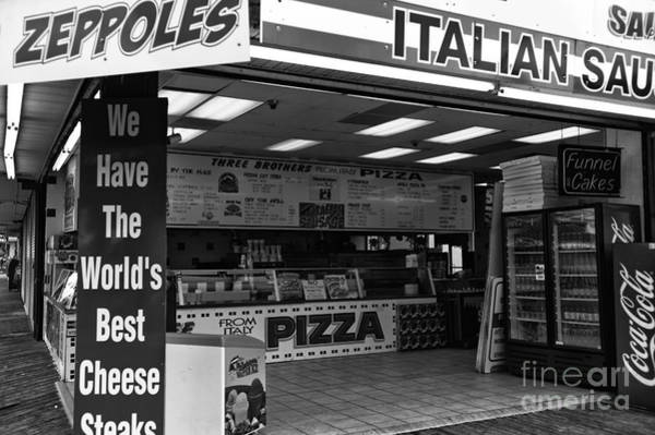 Wall Art - Photograph - The Worlds Best Cheese Steaks Mono by John Rizzuto