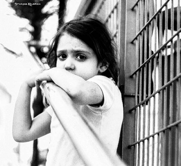 People Wall Art - Photograph - The Worried Little Girl by Stwayne Keubrick