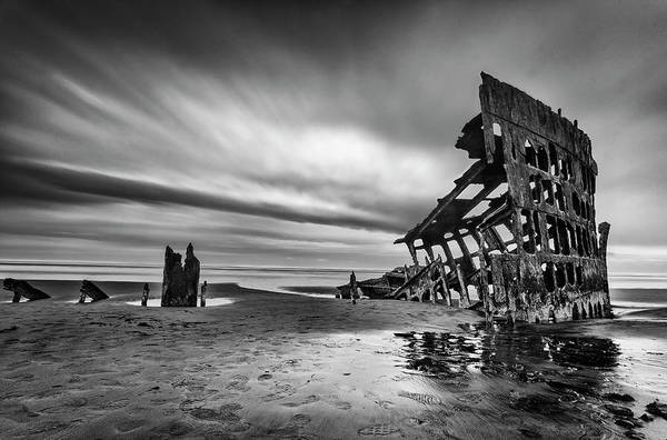 Oregon Coast Photograph - The Wreck Of The Peter Iredale by Lydia Jacobs