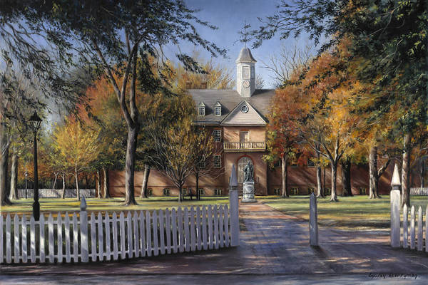 Wren Painting - The Wren Building - College Of William And Mary by Gulay Berryman
