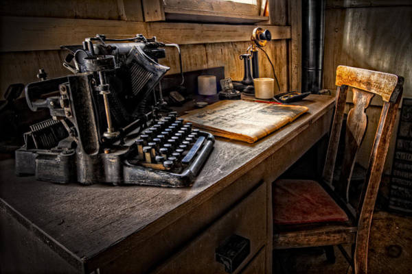 Wall Art - Photograph - The Writer's Desk by Debra and Dave Vanderlaan