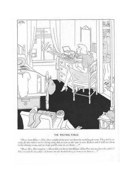 Silver Drawing - The Writing Public Dear Aunt Ella: - The Silver by Gluyas Williams