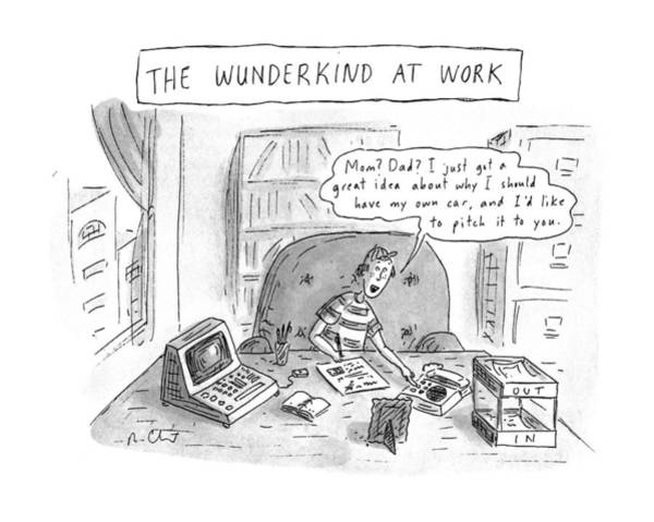 The Wunderkind At Work Art Print