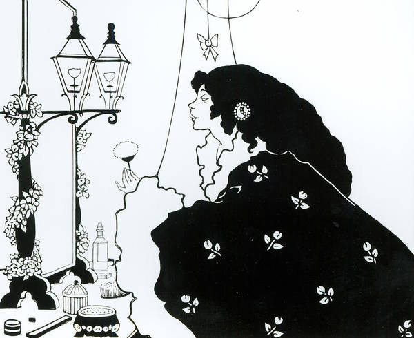 Line Drawing Painting - The Yellow Book  by Aubrey Beardsley