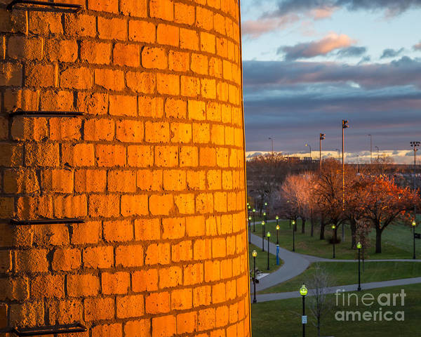 Photograph - The Yellow Brick Chimney by Susan Cole Kelly