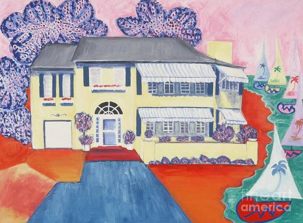 Wall Art - Painting - The Yellow House by Karen Francis
