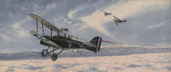 Air War Painting - The Yielding Sky by Wade Meyers