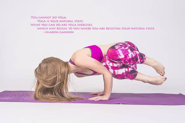 Photograph - The Yoga Yogi Quote by David Haskett II