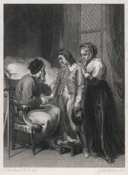 Wall Art - Drawing - The Young Crusoe Takes Leave by Mary Evans Picture Library