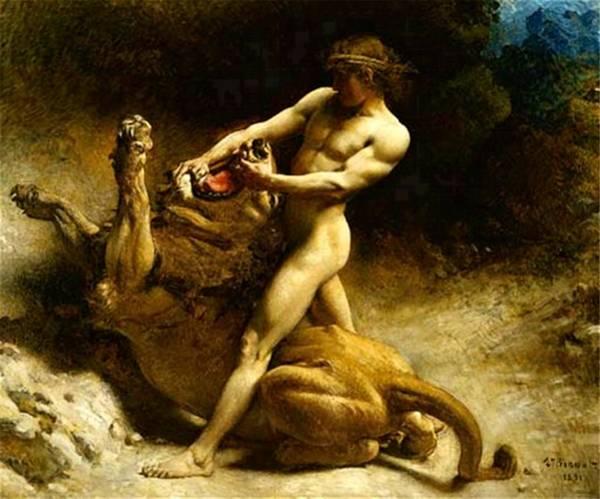 Painting - The Youth Samson by Leon Joseph Florentin Bonnat
