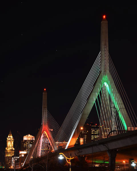 Photograph - The Zakim Bridge In Holiday Colors by Toby McGuire